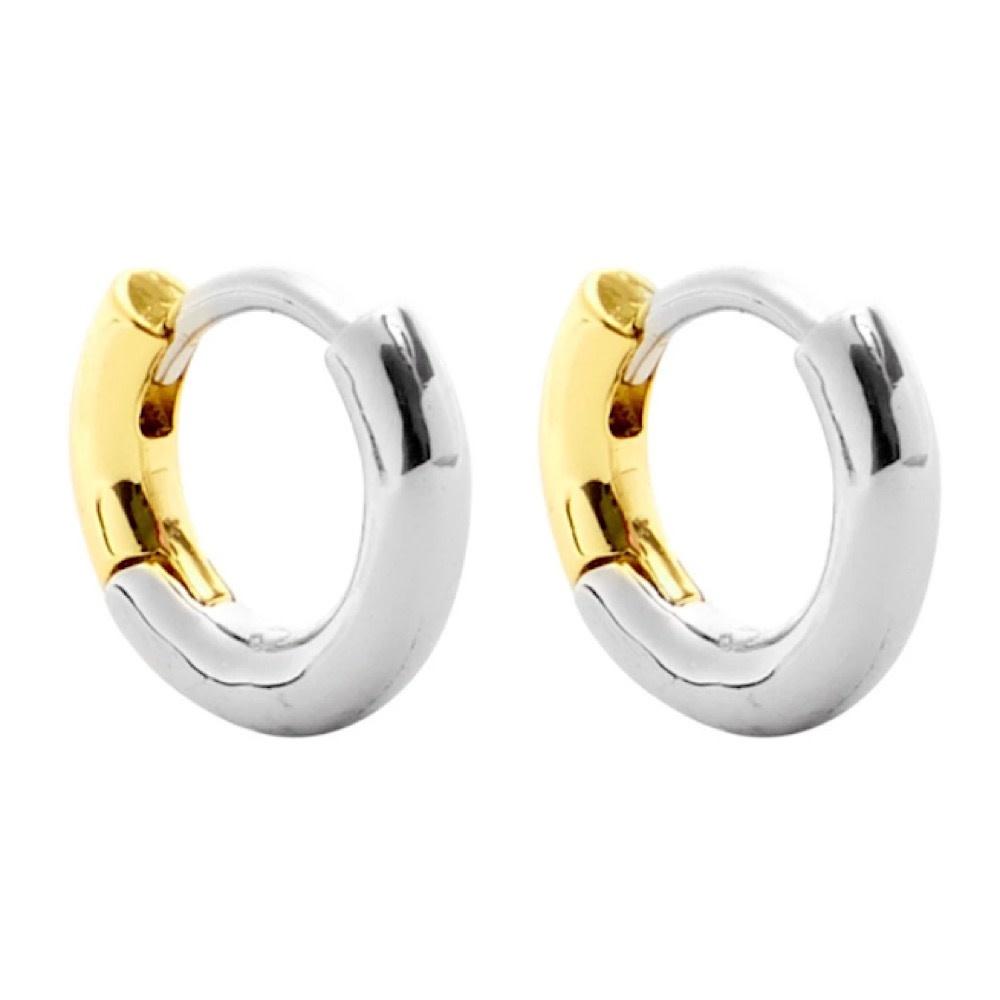 Machete - Huggie Hoop Earrings - 3/4 Silver