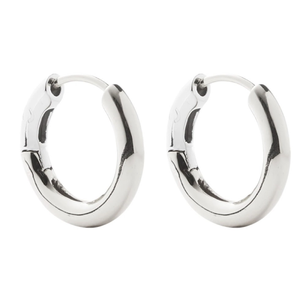 Machete - Hinge Hoop Earrings - Silver