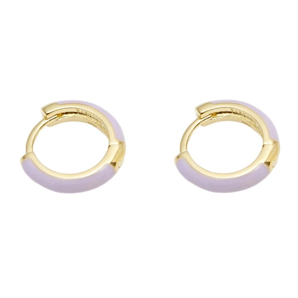 Machete - Huggie Hoop Earrings - Lavender