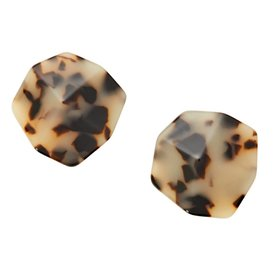 Machete Machete - Sculpture Stud Earrings - Blonde Tortoise