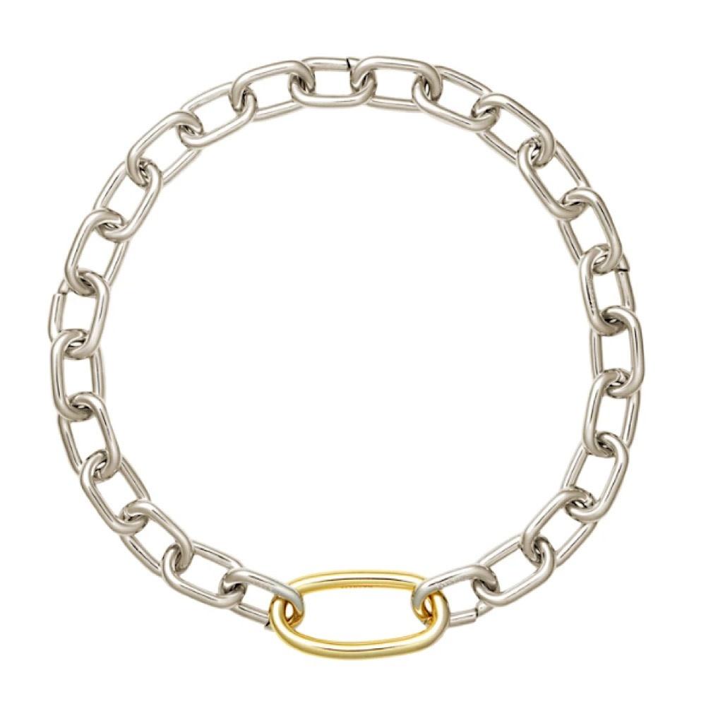 Machete - Interchangeable Oval Link Necklace - Silver