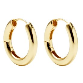 Machete Machete - Hinge Hoop Earrings - Gold