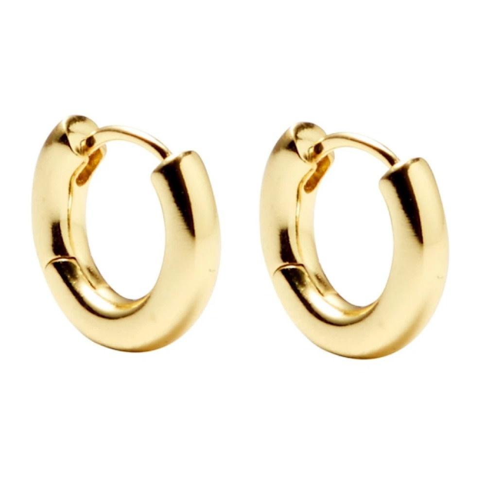 Machete - Huggie Hoop Earrings - Gold