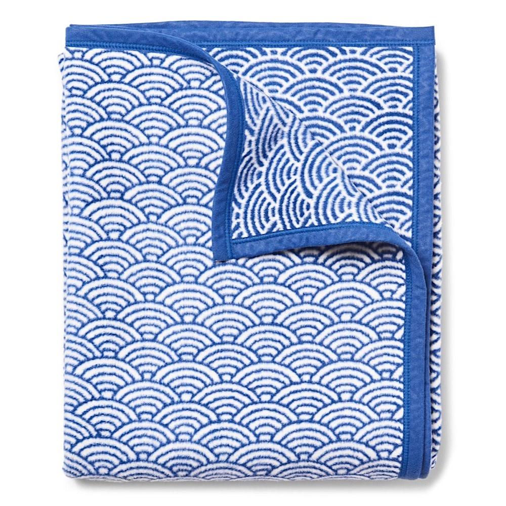 Chappy Wrap Blanket - Brewster Scallops Blue