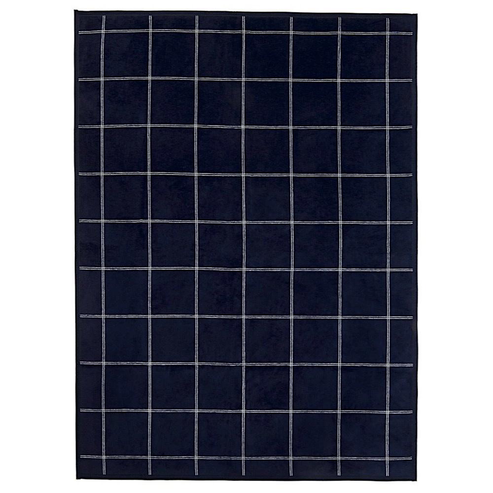Chappy Wrap Blanket - Classic Plaid Navy