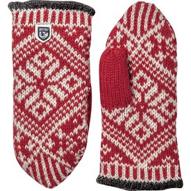 Hestra Hestra Mitten - Nordic Wool - Red/Off White