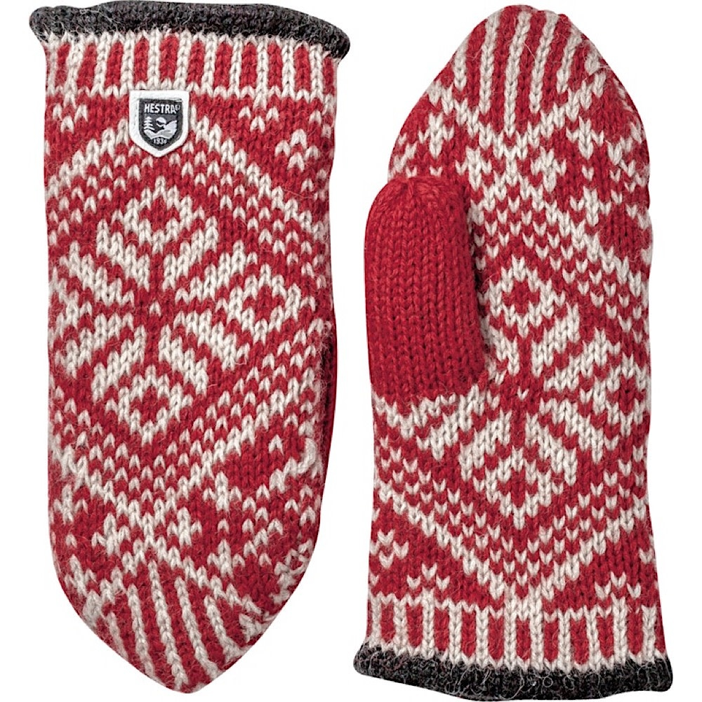 Hestra Mitten - Nordic Wool - Red/Off White