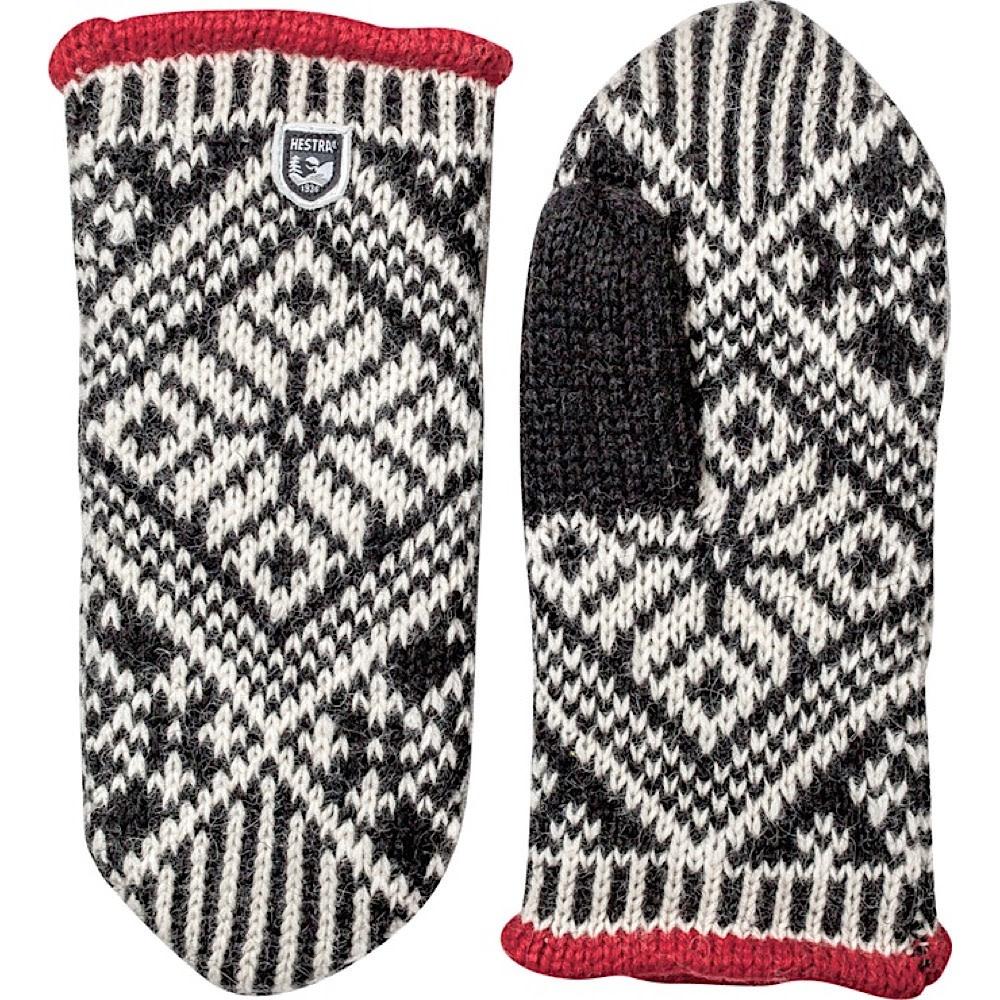 Hestra Mitten - Nordic Wool - Black/Off White