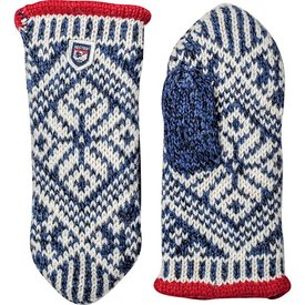 Hestra Hestra Mitten - Nordic Wool - Blue/Off White