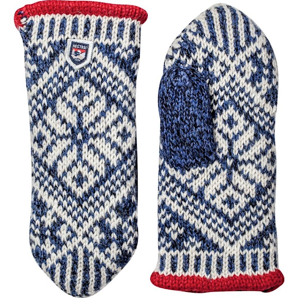 Hestra Mitten - Nordic Wool - Blue/Off White