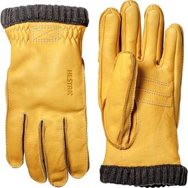 Hestra Hestra Mens Glove - Deerskin Primaloft Ribber - Natural Yellow
