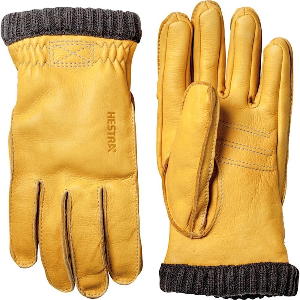 Hestra Mens Glove - Deerskin Primaloft Ribber - Natural Yellow