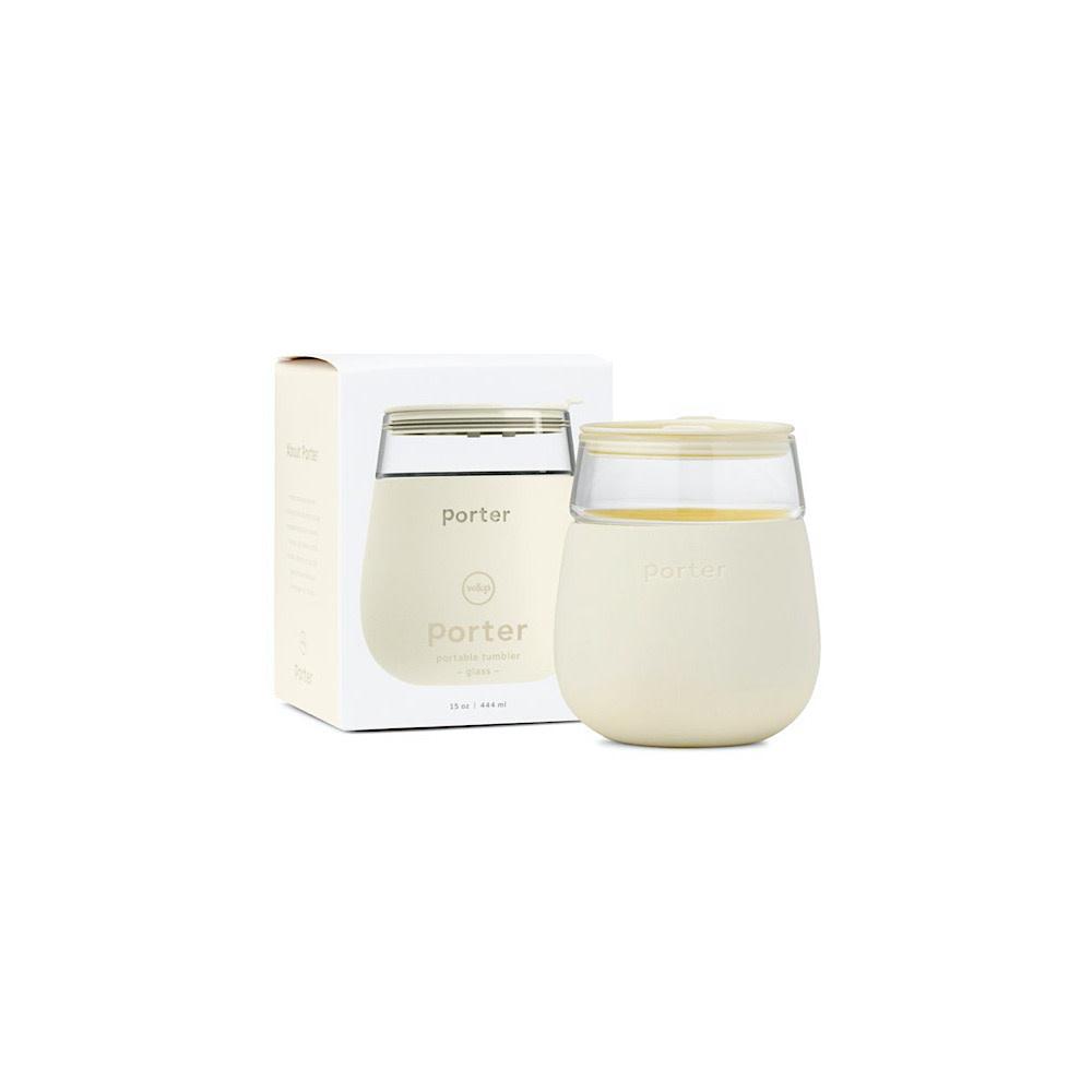 Porter Glass Cup 15oz - Cream