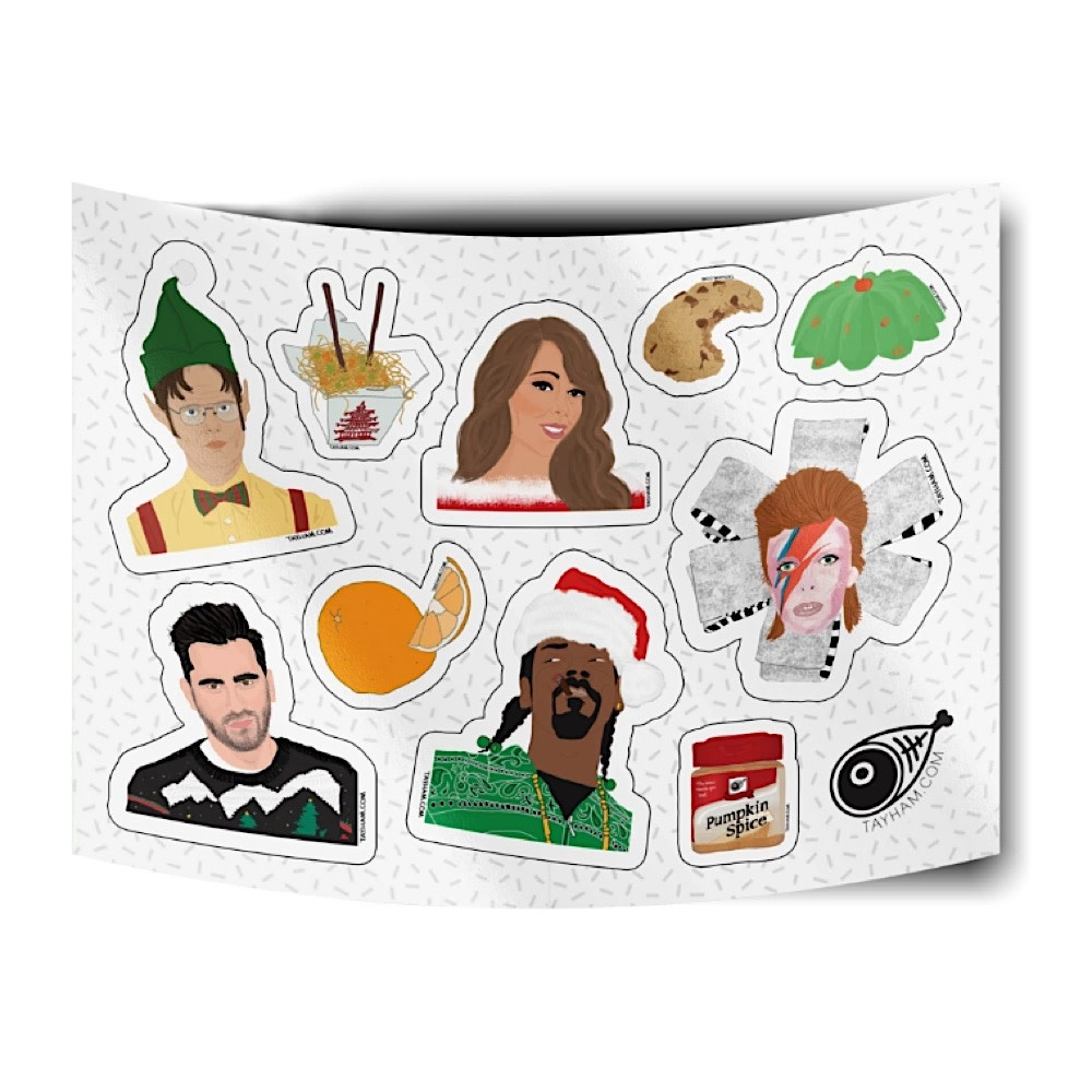 Tay Ham Holiday Sticker Sheet
