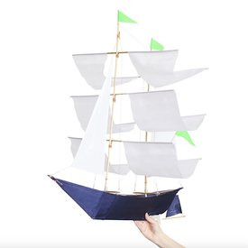 Haptic Lab Inc. Haptic Lab Sailing Ship Kite - Anne Bonny White/Blue
