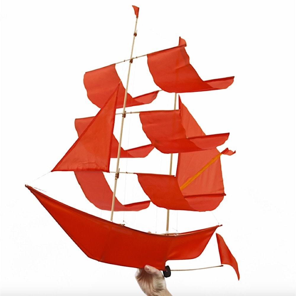 Haptic Lab Sailing Ship Kite - Flame