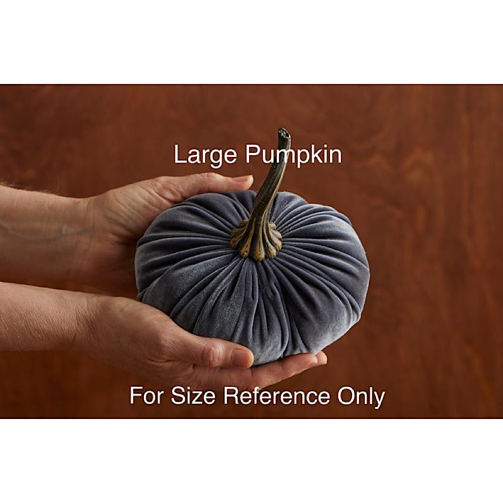Your Heart's Content Large Velvet Pumpkin - Harvest