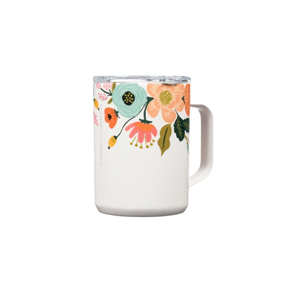 Corkcicle + Rifle Paper Mug 16oz - Gloss Cream Lively Floral