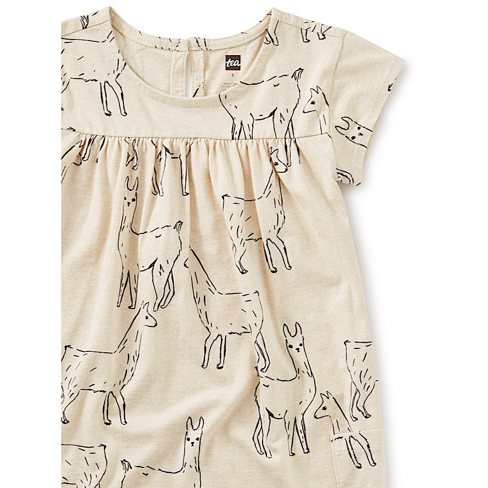 Tea Collection Pocket Dress - Llama Love