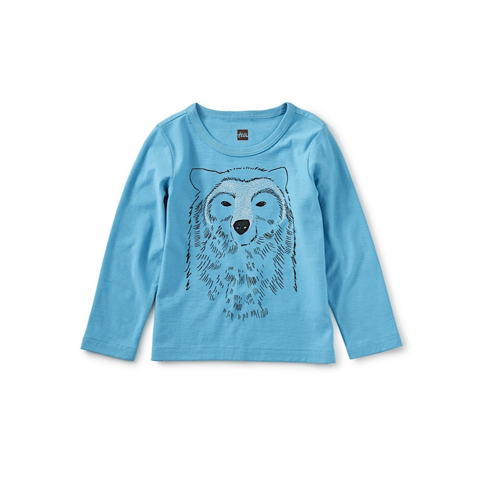 Tea Collection Bear All Graphic Tee - Bondi Blue