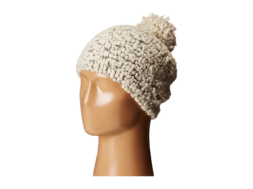 Plush Yarn Beanie with Gold Sequins