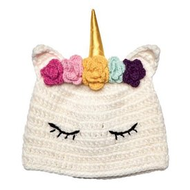 San Diego Hat Company Crochet Sleeping Unicorn Hat