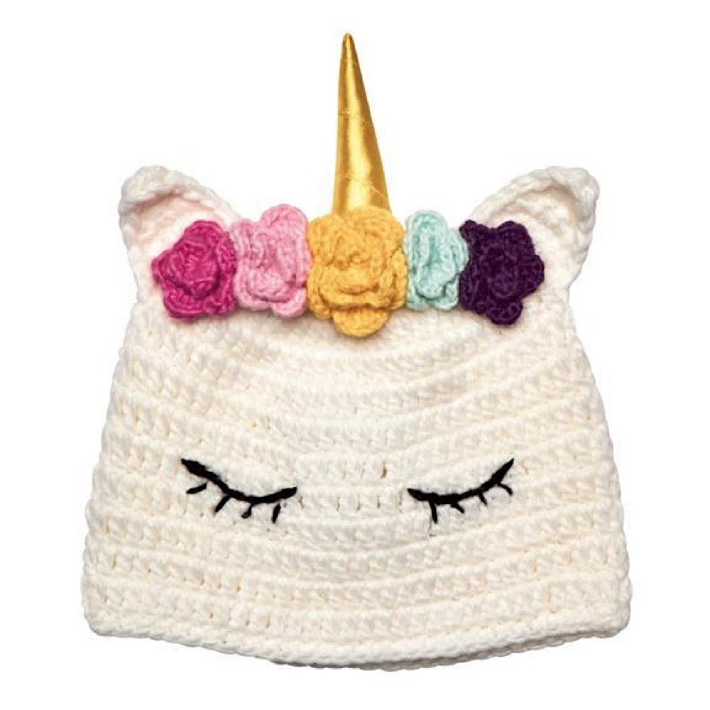 Crochet Sleeping Unicorn Hat