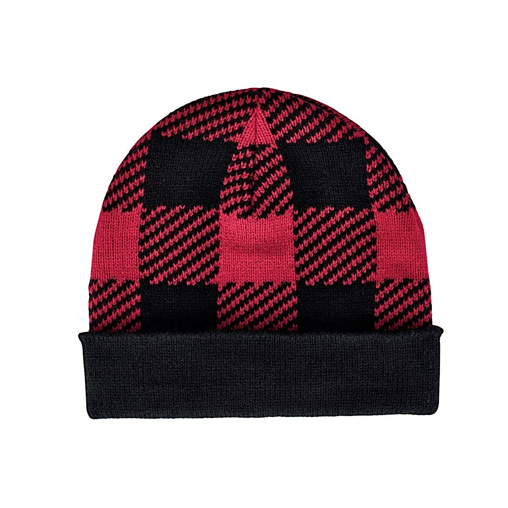 San Diego Hat Company Kids Beanie - Buffalo Plaid