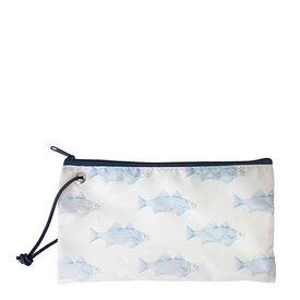 Sea Bags Sea Bags Sara Fitz - Blue Fish - Wristlet