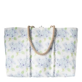 Sea Bags Sea Bags Sara Fitz - Hydrangea - Large Tote - Hemp Handle with Clasp