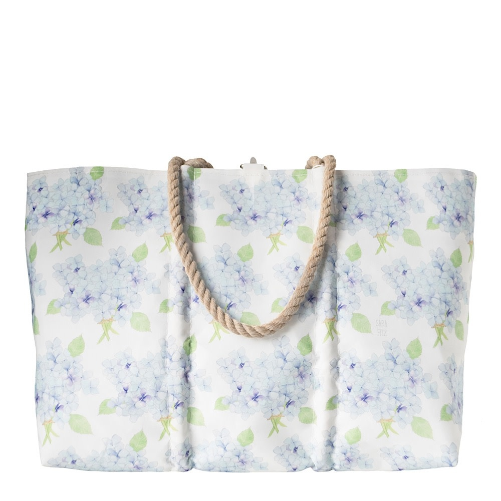 Sea Bags Sea Bags Sara Fitz - Hydrangea - Large Tote - Hemp Handle with Clasp