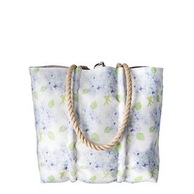 Sea Bags Sea Bags Sara Fitz - Hydrangea - Medium Tote - Hemp Handle with Clasp