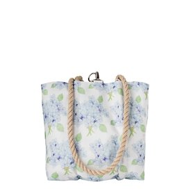 Sea Bags Sea Bags Sara Fitz - Hydrangea - Small Handbag Tote - Hemp Handle with Clasp