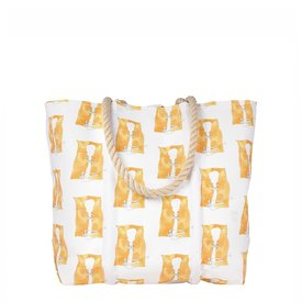 Sea Bags Sea Bags Sara Fitz - Life Jacket - Medium Tote - Hemp Handle with Clasp