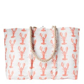 Sea Bags Sea Bags Sara Fitz - Lobster - Large Tote - Hemp Handle with Clasp