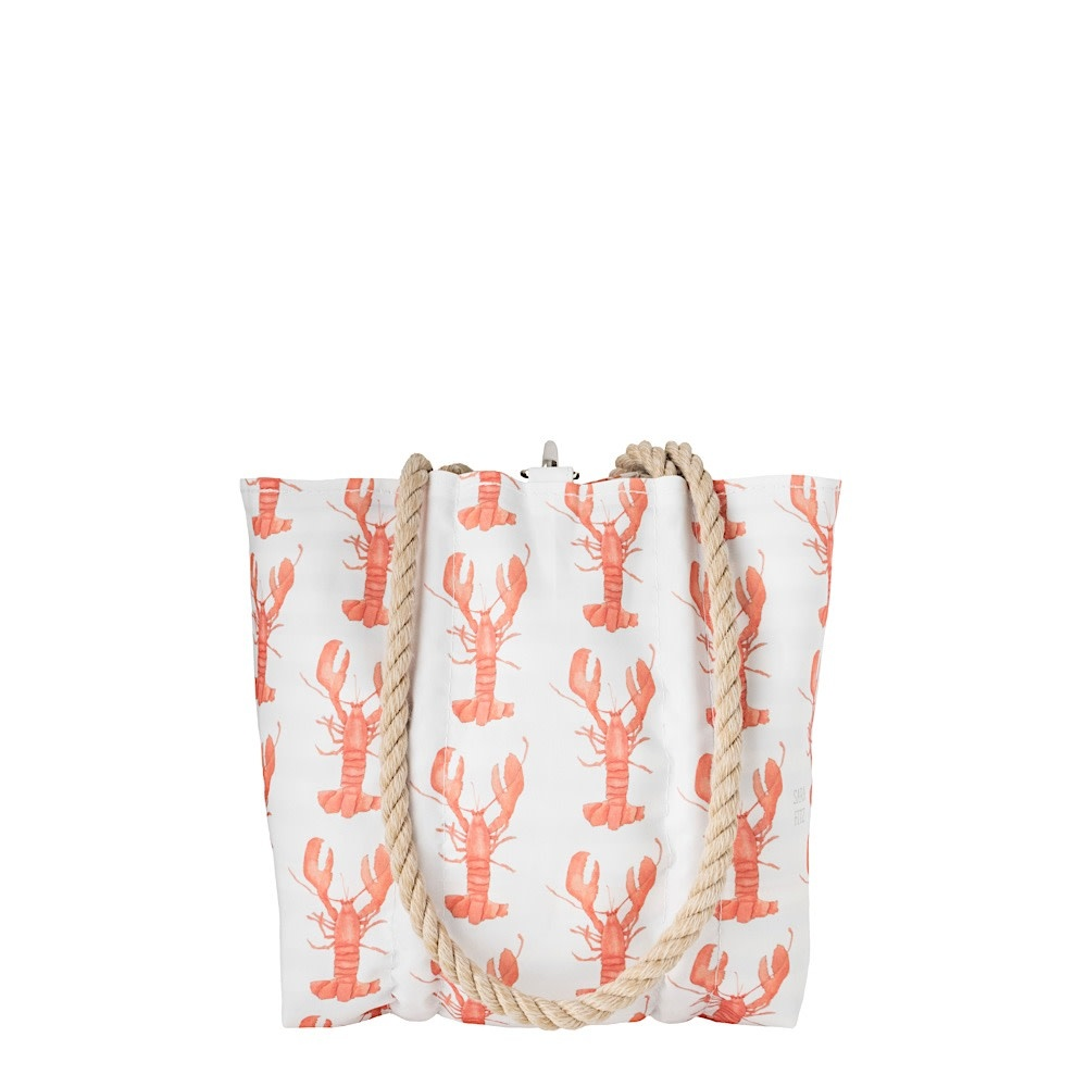 Sea Bags Sara Fitz - Lobster - Small Handbag Tote - Hemp Handle with Clasp