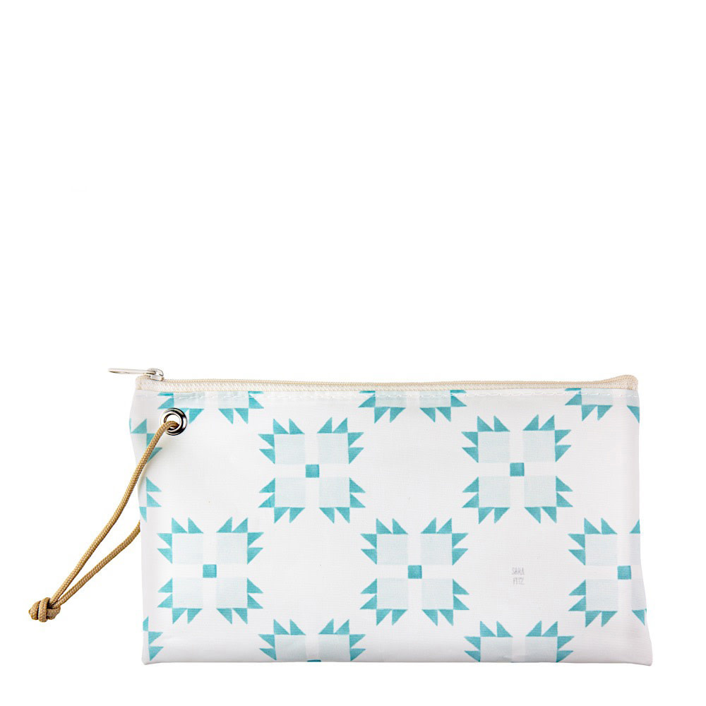 Sea Bags Sara Fitz - Mint Quilt - Wristlet