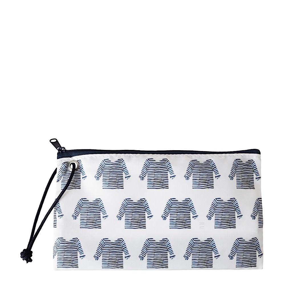 Sea Bags Sea Bags Sara Fitz - Striped Shirt - Wristlet