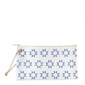 Sea Bags Sea Bags Sara Fitz - Blue Quilt - Wristlet