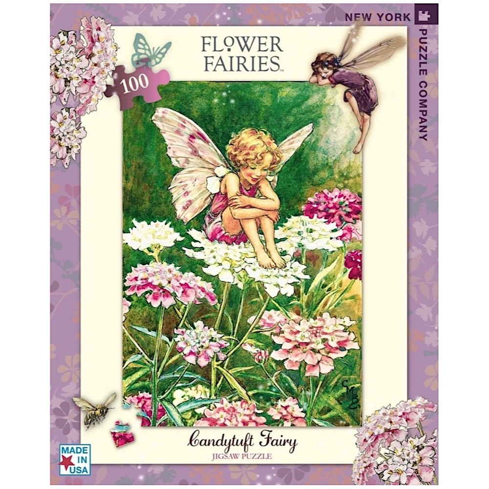 New York Puzzle Co. New York Puzzle Co - Candytuft - 100 Piece Jigsaw Puzzle