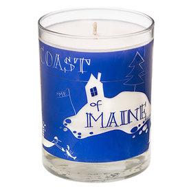 Seawicks Seawicks Candle - Coastal Maine Map