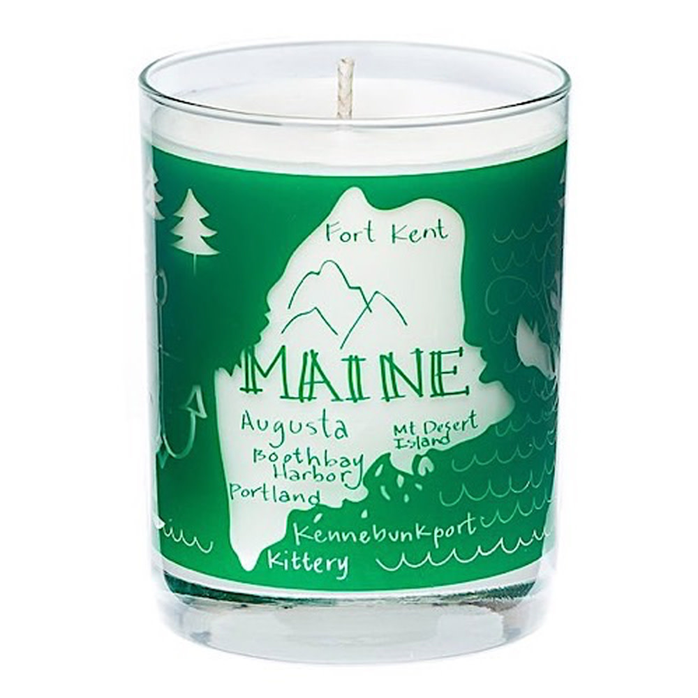 Seawicks Seawicks Candle - Maine Map