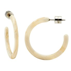 Machete Machete - Mini Hoop Earrings - Alabaster