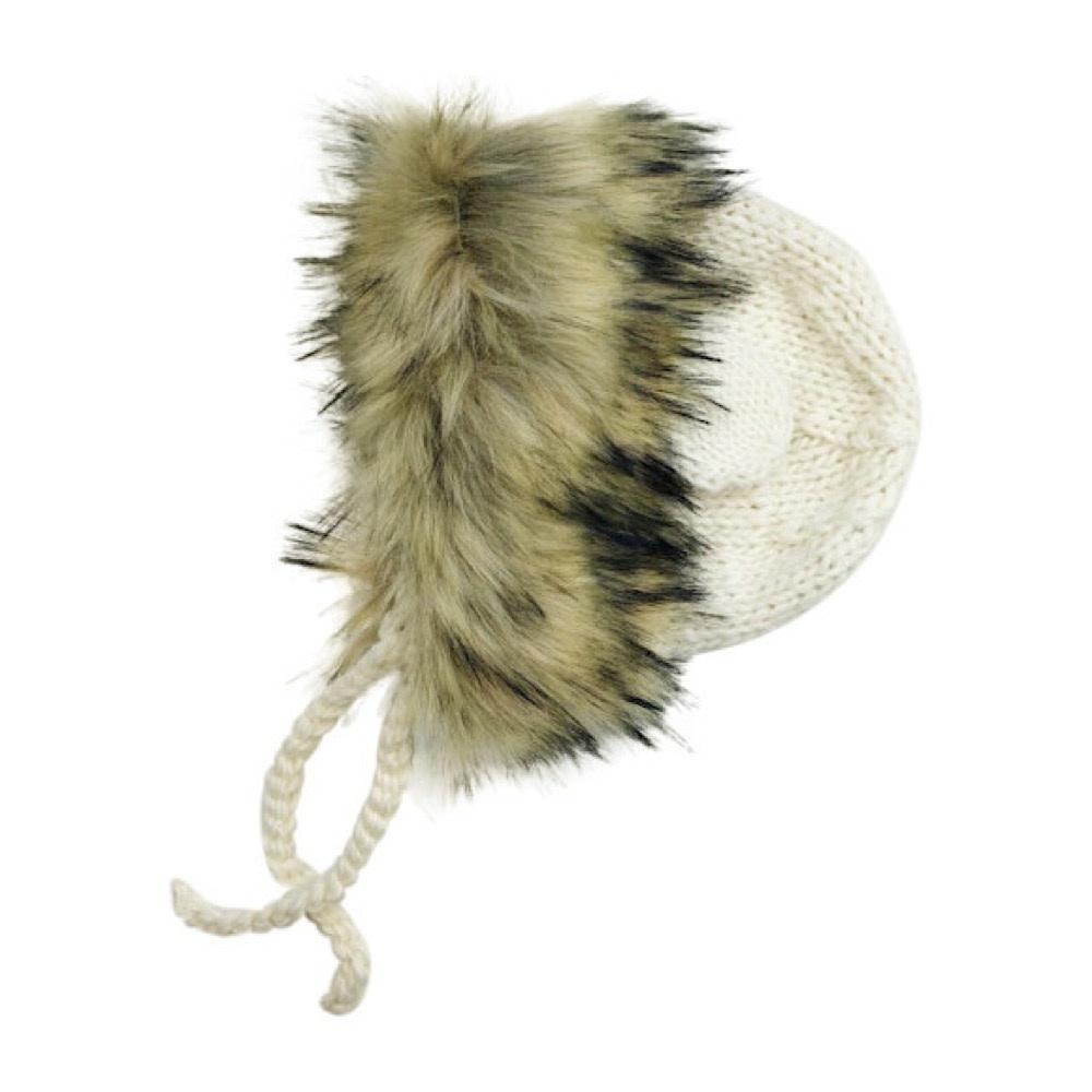 Blueberry Hill Lion Knit Hat - Cream