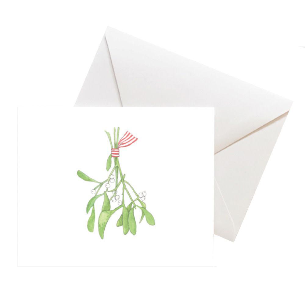 Sara Fitz Box of 8 Cards - Mistletoe