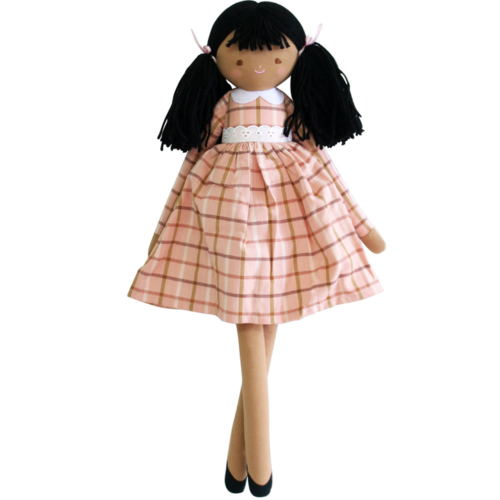 Alimrose Pippa Doll - Pink Plaid