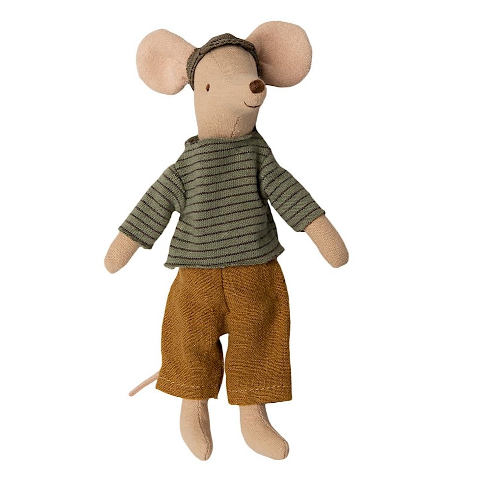 Maileg Mouse - Dad - Green Sweater