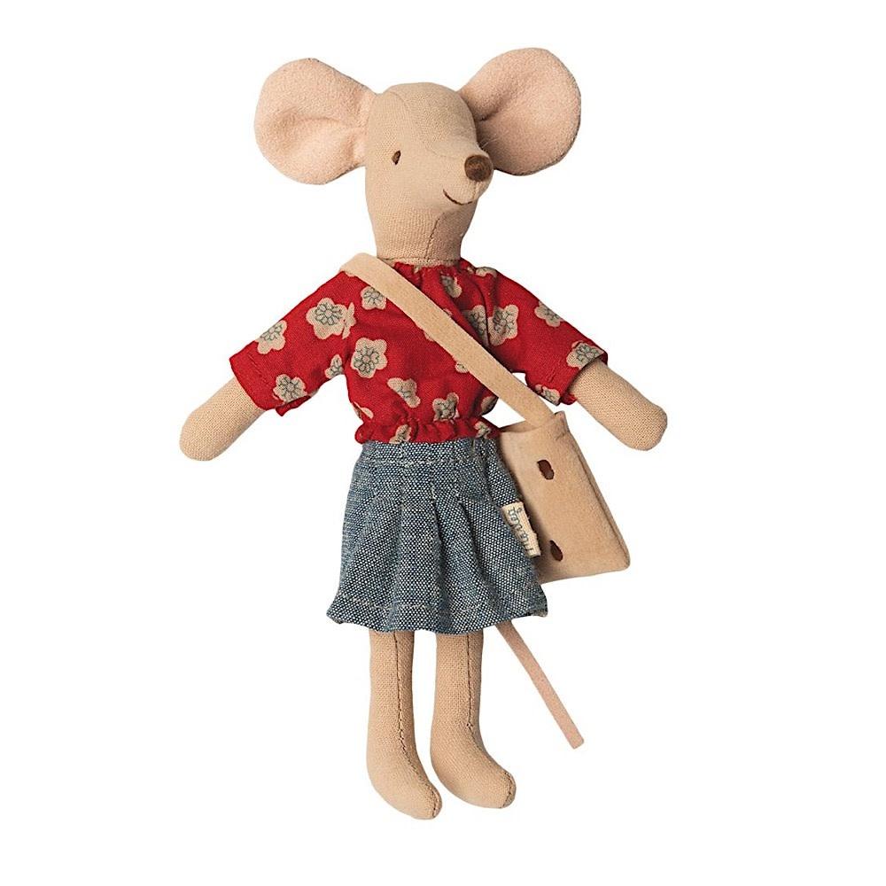 Maileg Mouse - Mum - Red Shirt
