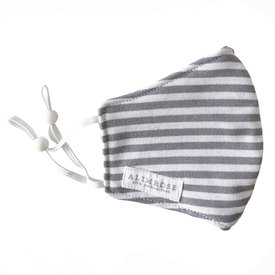 Alimrose Alimrose Youth Mask - Grey Stripe