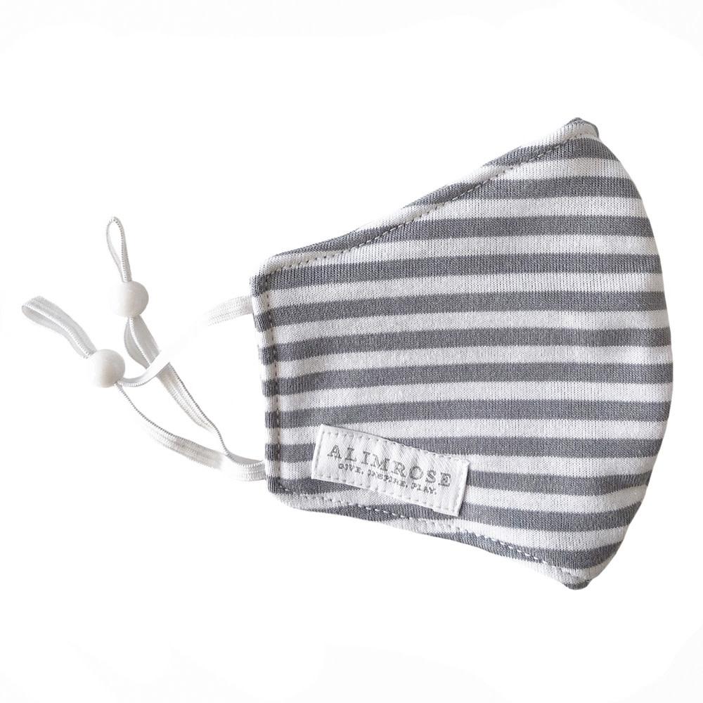 Alimrose Alimrose Youth Mask - Grey Stripe